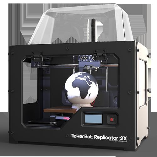 makerbot replicator 2x experimental 3d printer includes top enclosure image transforms. Black Bedroom Furniture Sets. Home Design Ideas